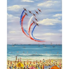 The Red Arrows at the beach