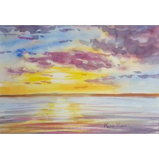 Sunset over the sea 5