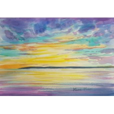 Sunset over the sea 6