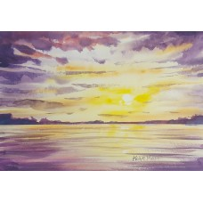 Sunset over the sea 7