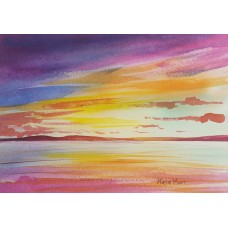 Sunset over the sea 8